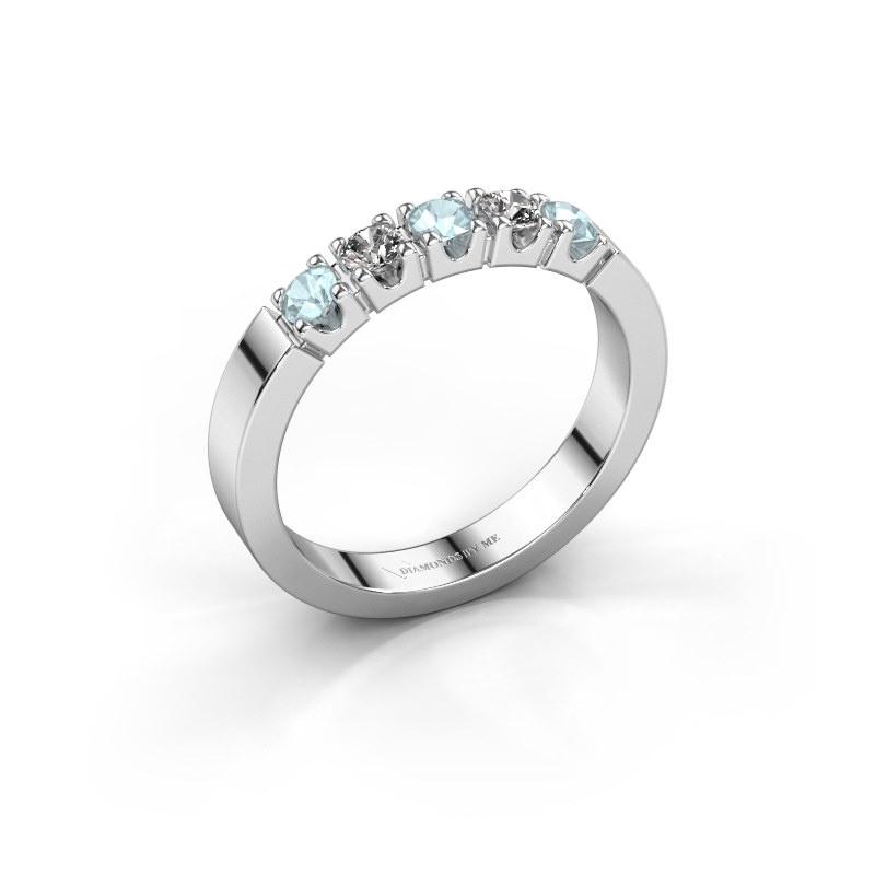 Engagement ring Dana 5 950 platinum aquamarine 3 mm