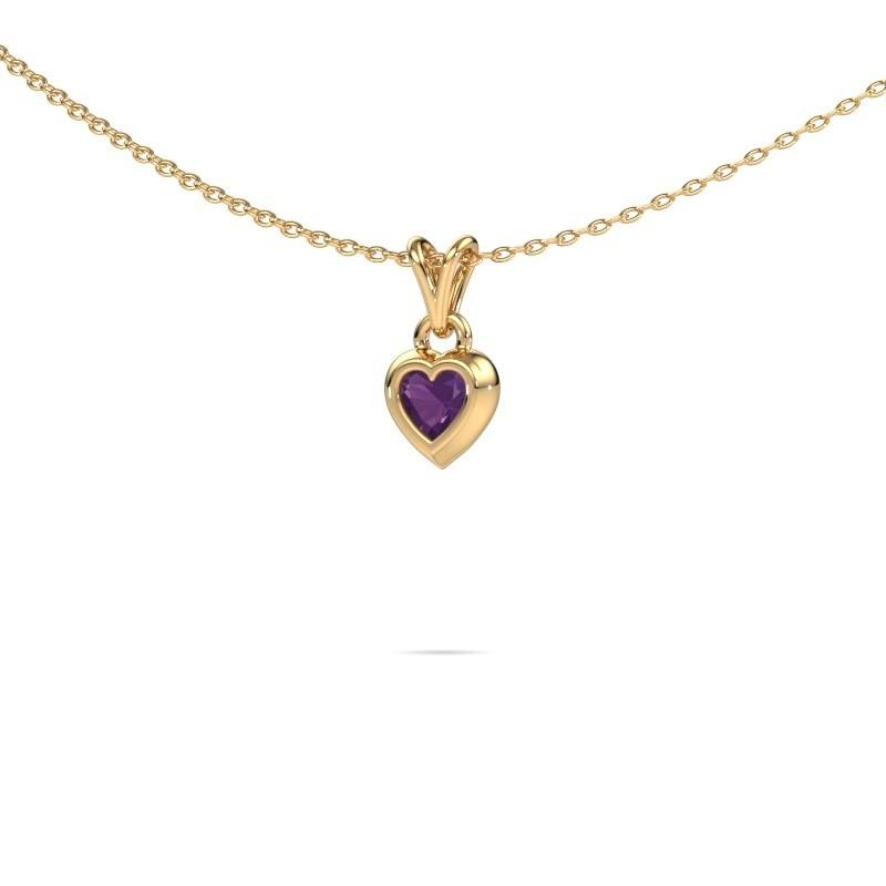 Hanger Charlotte Heart 585 goud amethist 4 mm