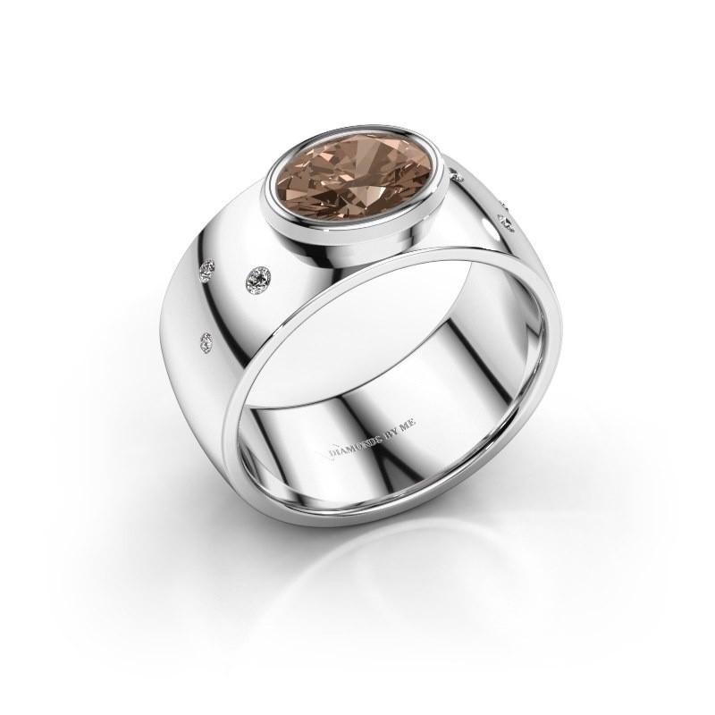 Ring Wilma 2 950 platina bruine diamant 1.15 crt