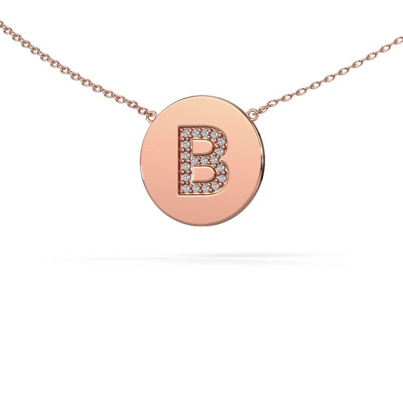 Initial pendant Initial 050 375 rose gold