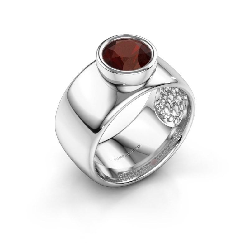 Ring Klarinda 925 zilver granaat 7 mm