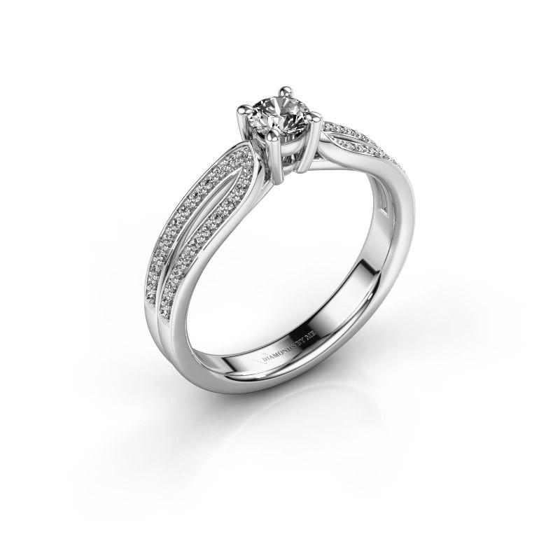 Verlovingsring Antonia 2 925 zilver diamant 0.48 crt