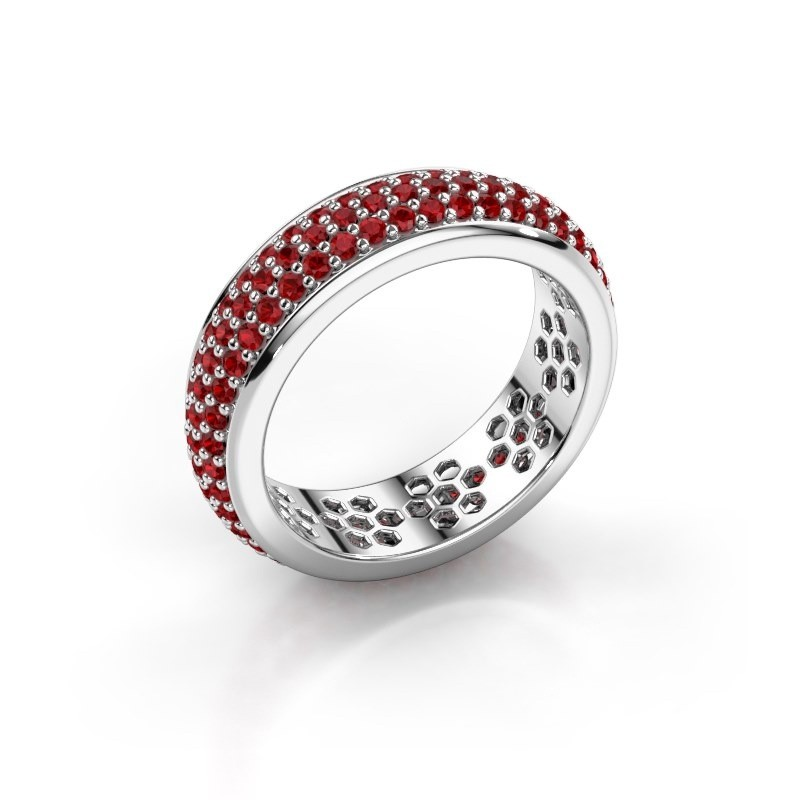 Ring Tara 925 Silber Rubin 1.3 mm