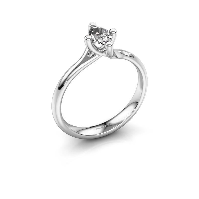 Engagement ring Dewi Oval 950 platinum diamond 0.50 crt