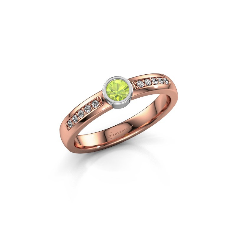 Engagement ring Ise 2 585 rose gold peridot 3.7 mm