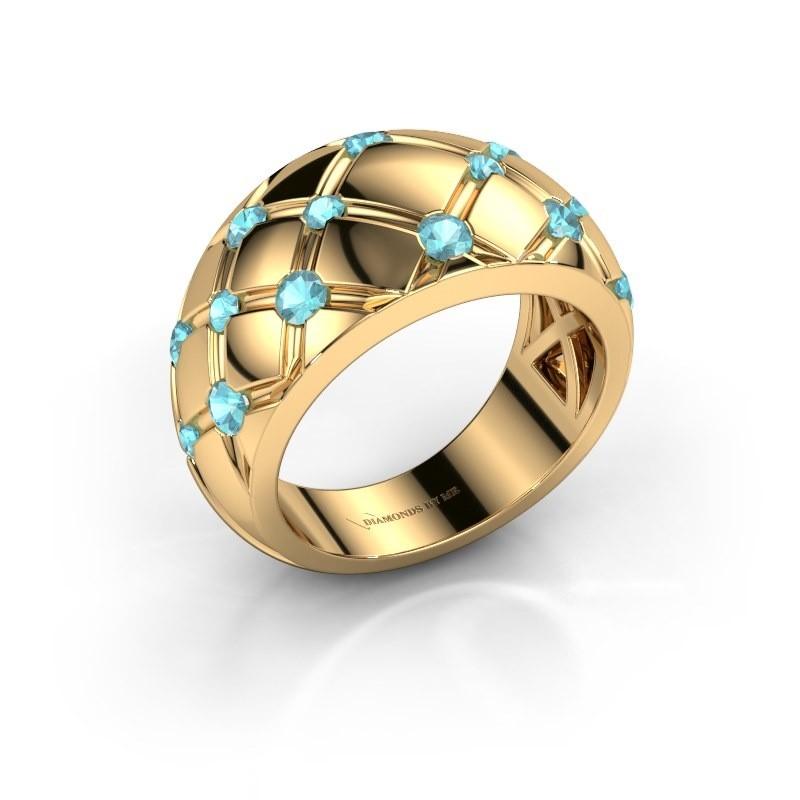 Ring Imke 375 Gold Blau Topas 2.5 mm