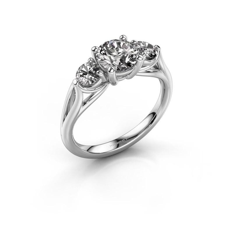 Verlobungsring Amie RND 925 Silber Diamant 1.50 crt