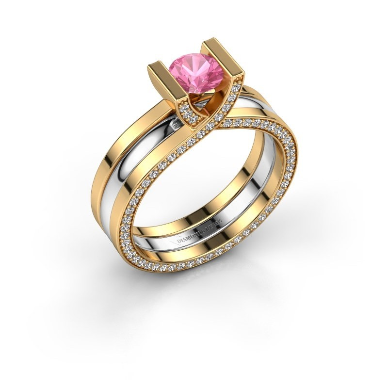 Verlobungsring Kenisha 585 Gold Pink Saphir 5 mm