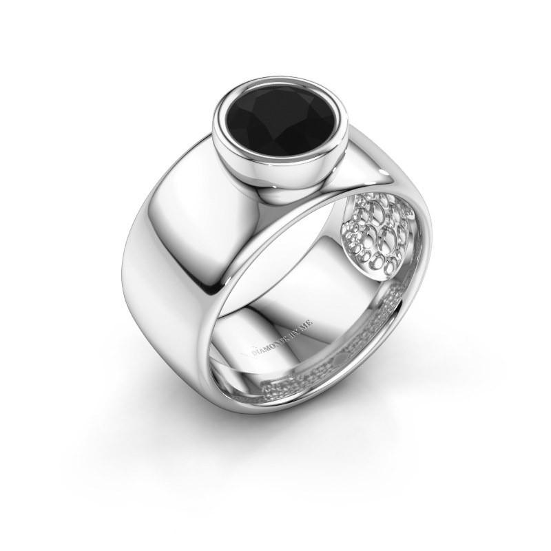 Ring Klarinda 925 zilver zwarte diamant 1.56 crt
