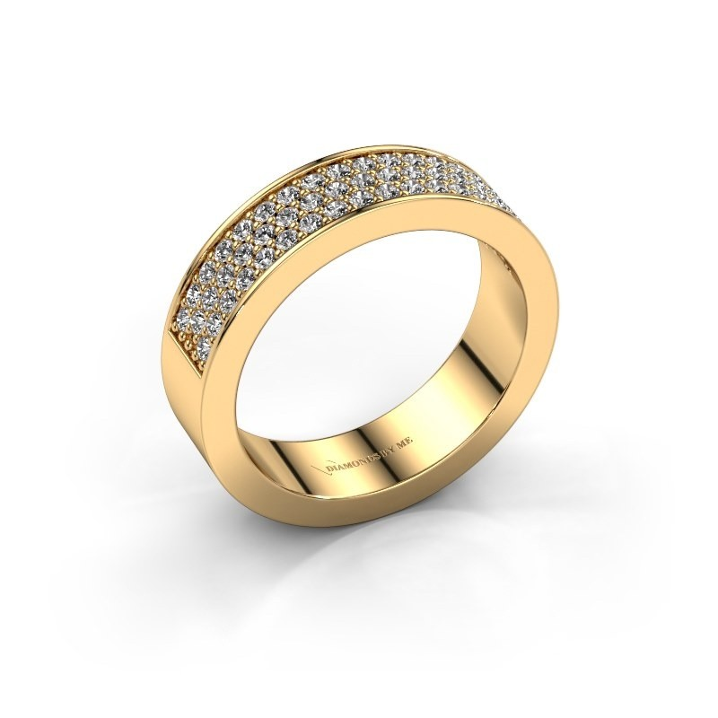 Ring Lindsey 4 375 gold diamond 0.53 crt