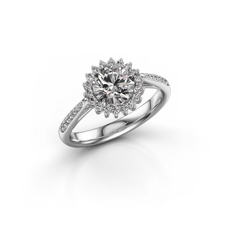 Engagement ring Tilly RND 2 585 white gold diamond 1.00 crt