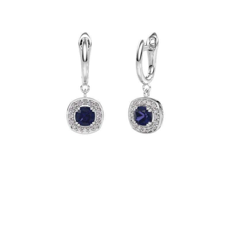 Drop earrings Marlotte 1 950 platinum sapphire 5 mm