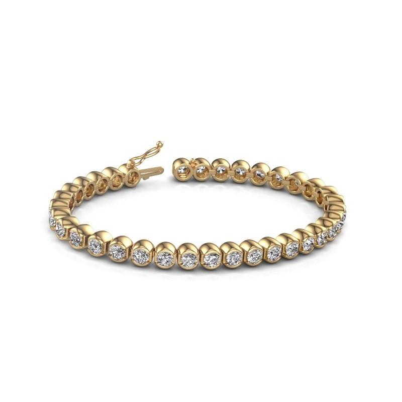 Tennis bracelet Bianca 375 gold zirconia 4 mm