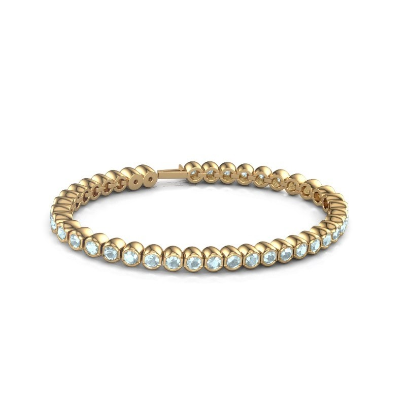 Tennisarmband Mellisa 375 goud aquamarijn 3.5 mm