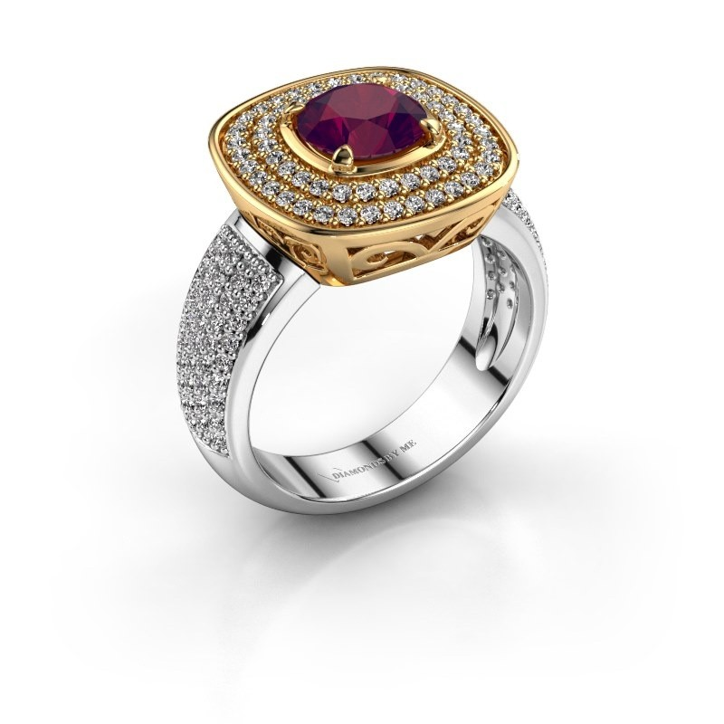 Ring Eliana 585 goud rhodoliet 6 mm