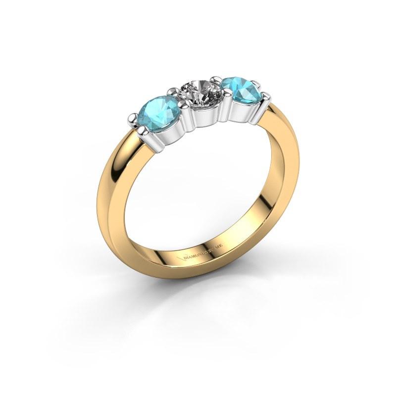 Verlovings ring Yasmin 3 585 goud diamant 0.30 crt