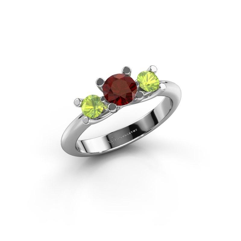 Ring Mirthe 585 Weißgold Granat 5 mm