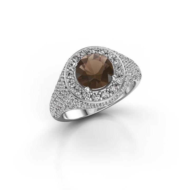 Ring Dayle 925 zilver rookkwarts 7 mm