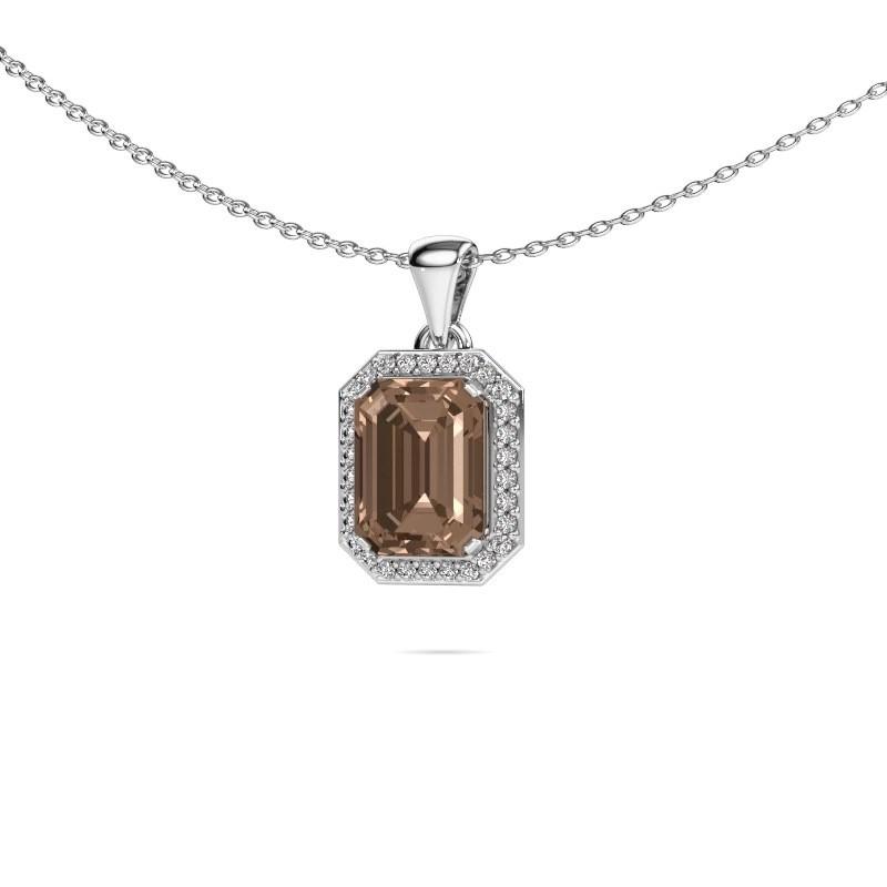 Ketting Dodie 585 witgoud bruine diamant 2.65 crt