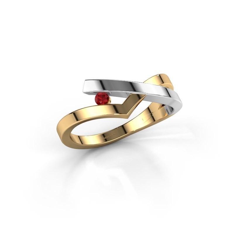 Ring Pamella 585 goud robijn 2.2 mm