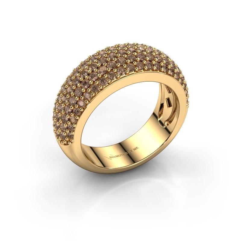 Ring Cristy 375 gold brown diamond 1.425 crt