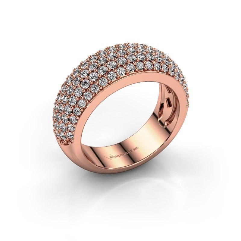 Ring Cristy 375 rosé goud diamant 1.425 crt