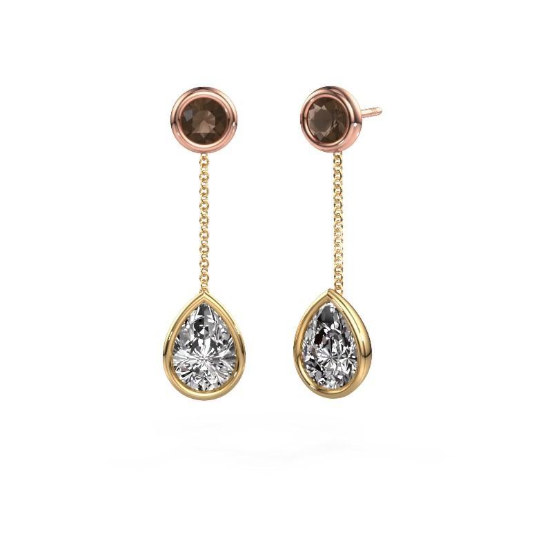 Oorhangers Ladawn 585 goud diamant 2.10 crt