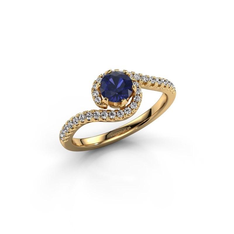Engagement ring Elli 375 gold sapphire 5 mm