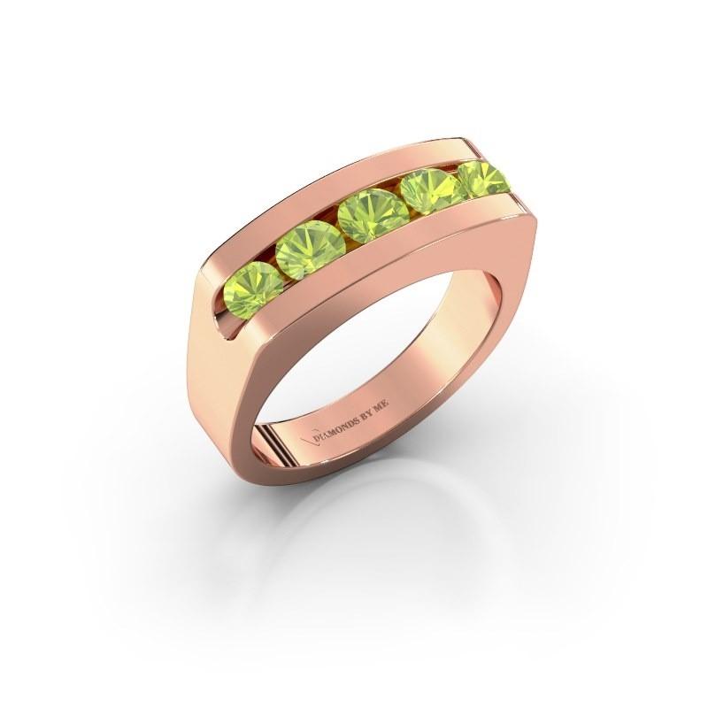 Men's ring Richard 375 rose gold peridot 4 mm