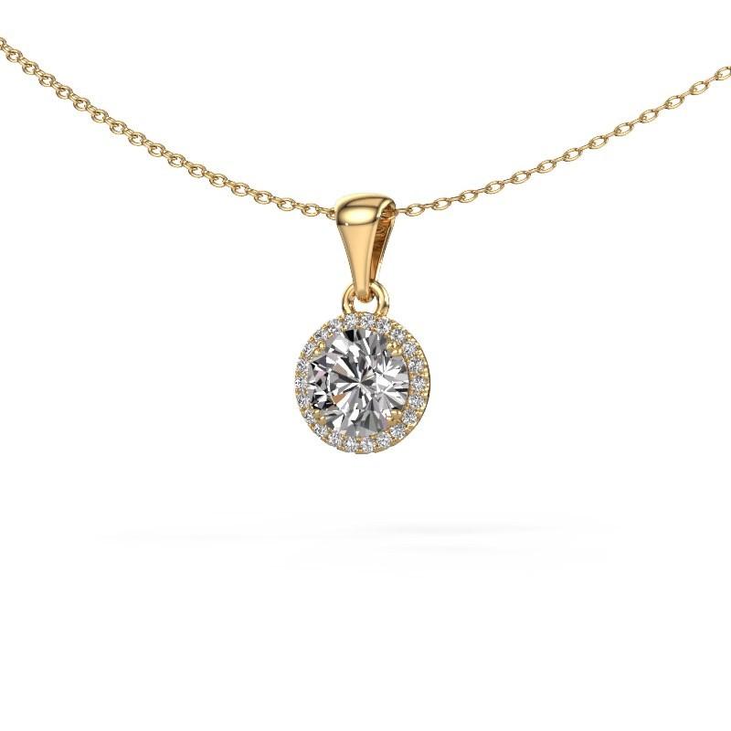 Hanger Seline rnd 375 goud diamant 1.11 crt