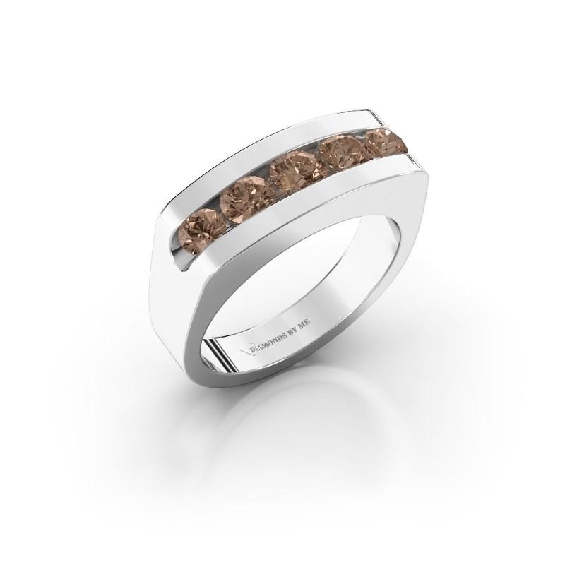 Men's ring Richard 925 silver brown diamond 1.110 crt
