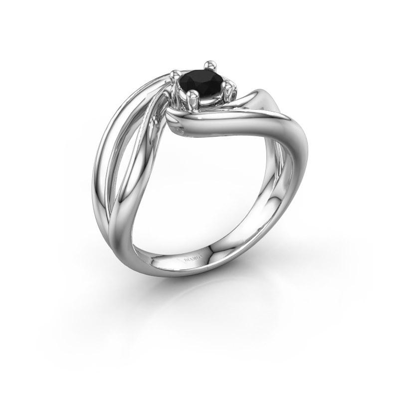 Ring Kyra 925 silver black diamond 0.30 crt