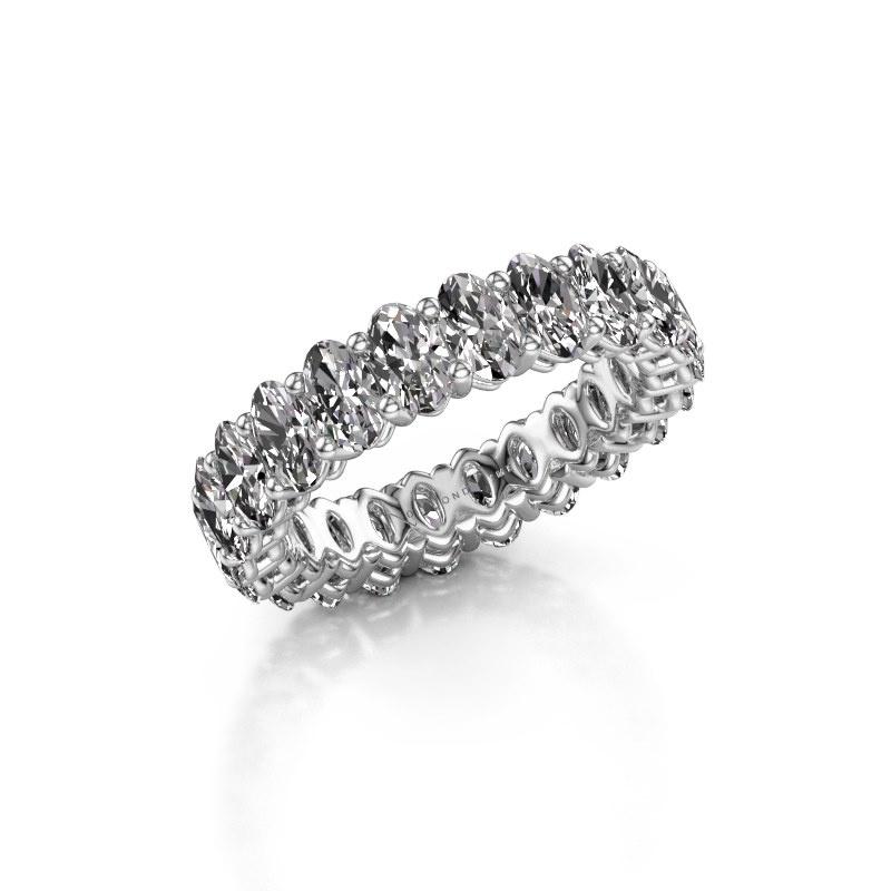 Aanschuifring Heddy OVL 3x5 950 platina diamant 5.06 crt