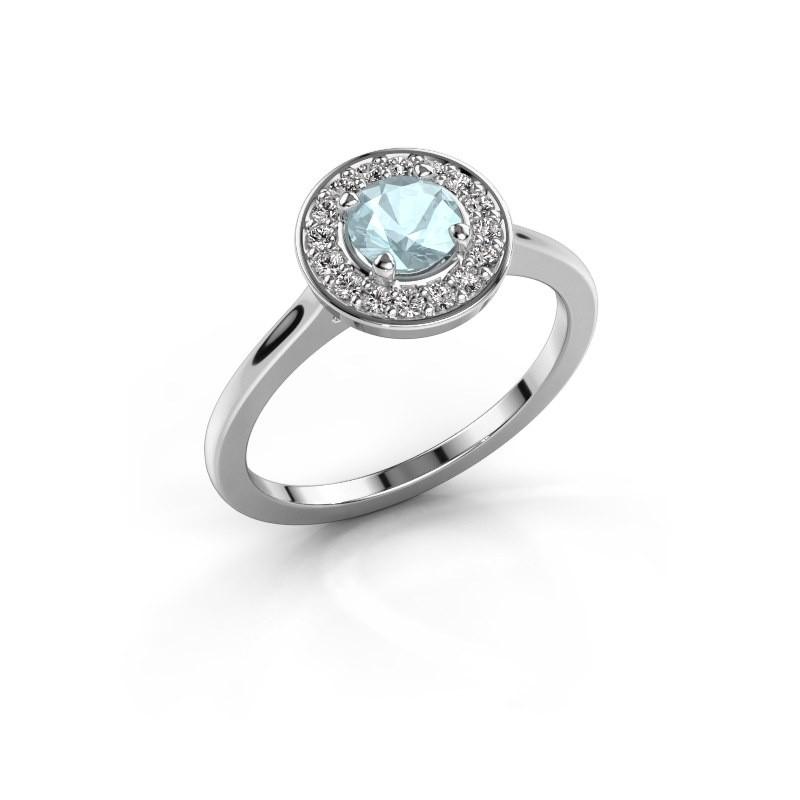 Ring Agaat 1 925 zilver aquamarijn 5 mm