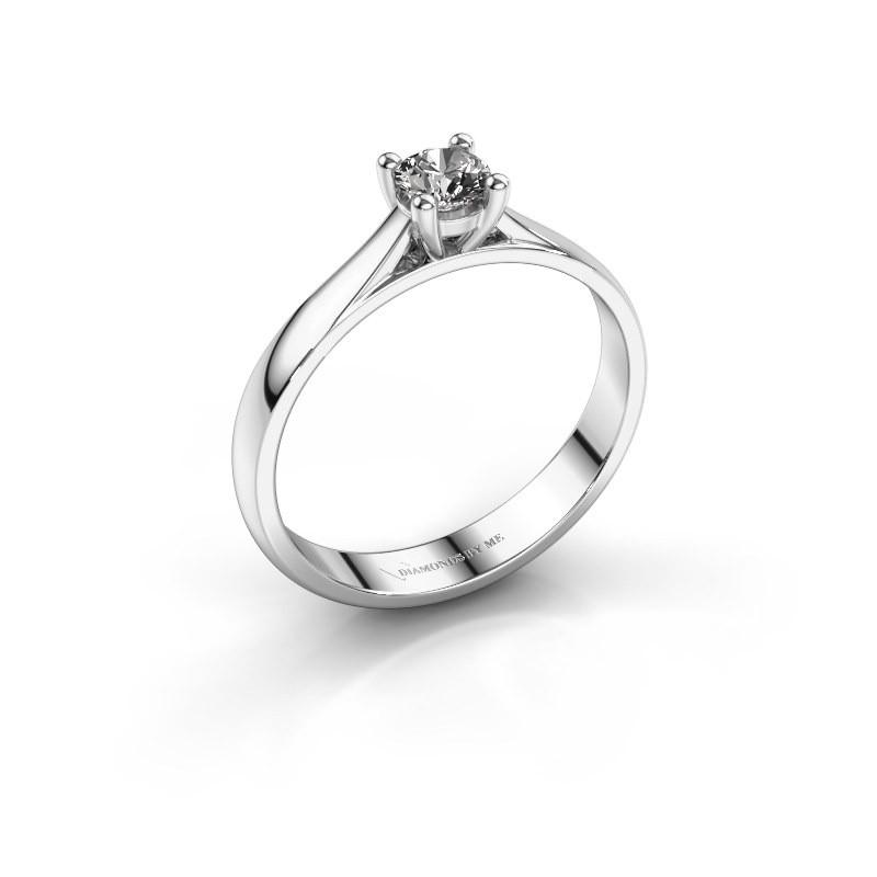 Engagement ring Sam 585 white gold diamond 0.30 crt