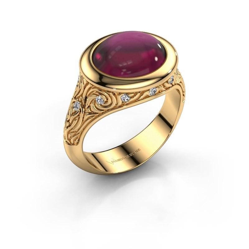 Ring Natacha 585 goud rhodoliet 12x10 mm