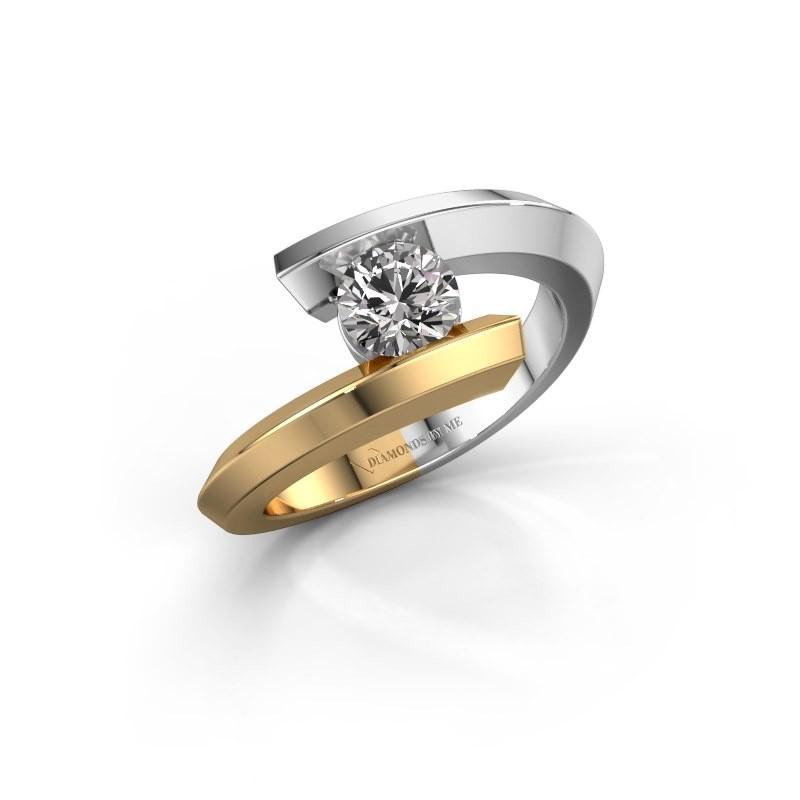 Ring Paulette 585 white gold diamond 0.50 crt