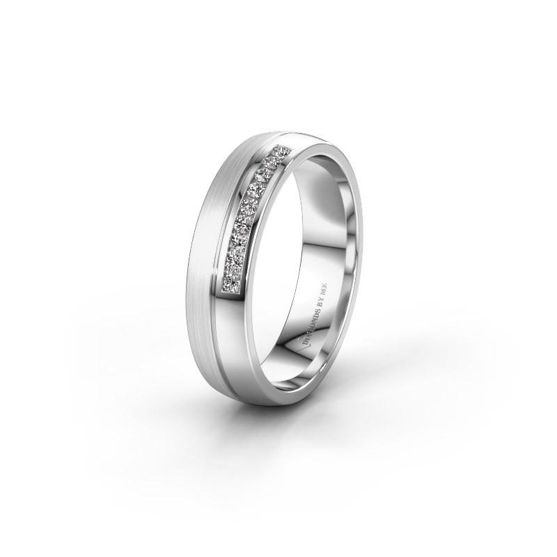 Wedding ring WH0209L25APM 950 platinum lab grown diamond ±0.20x0.07 in