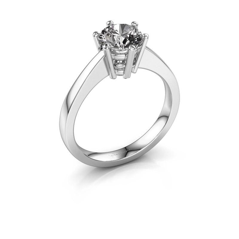 Bague de fiançailles Noortje 585 or blanc diamant 1.00 crt
