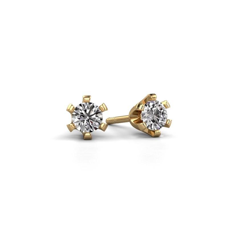 Stud earrings Shana 375 gold lab grown diamond 0.25 crt