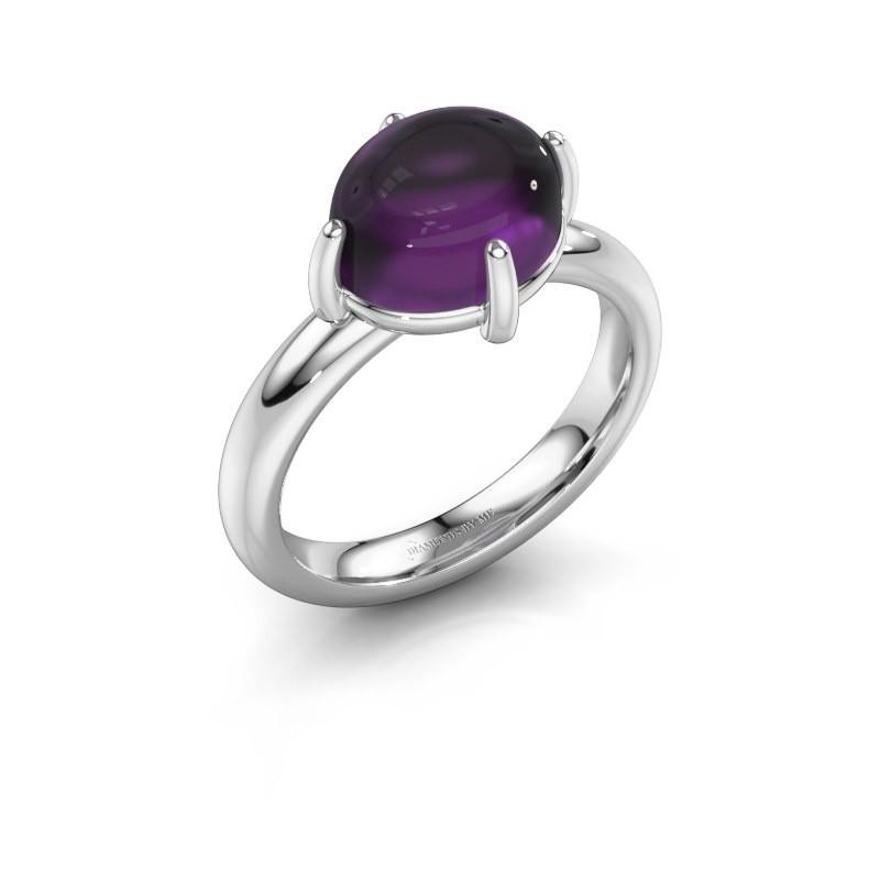 Ring Melodee 925 Silber Amethyst 10x8 mm