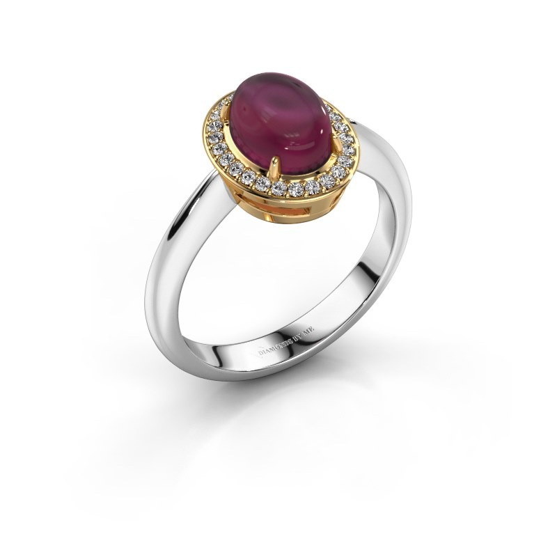Ring Kristian 585 white gold rhodolite 8x6 mm