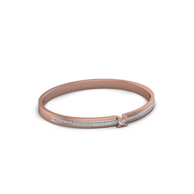 Armband Myrthe 585 rosé goud zirkonia 4 mm