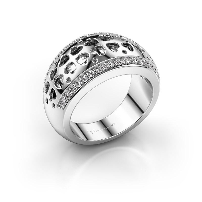 Ring Tirza 585 witgoud lab-grown diamant 0.340 crt