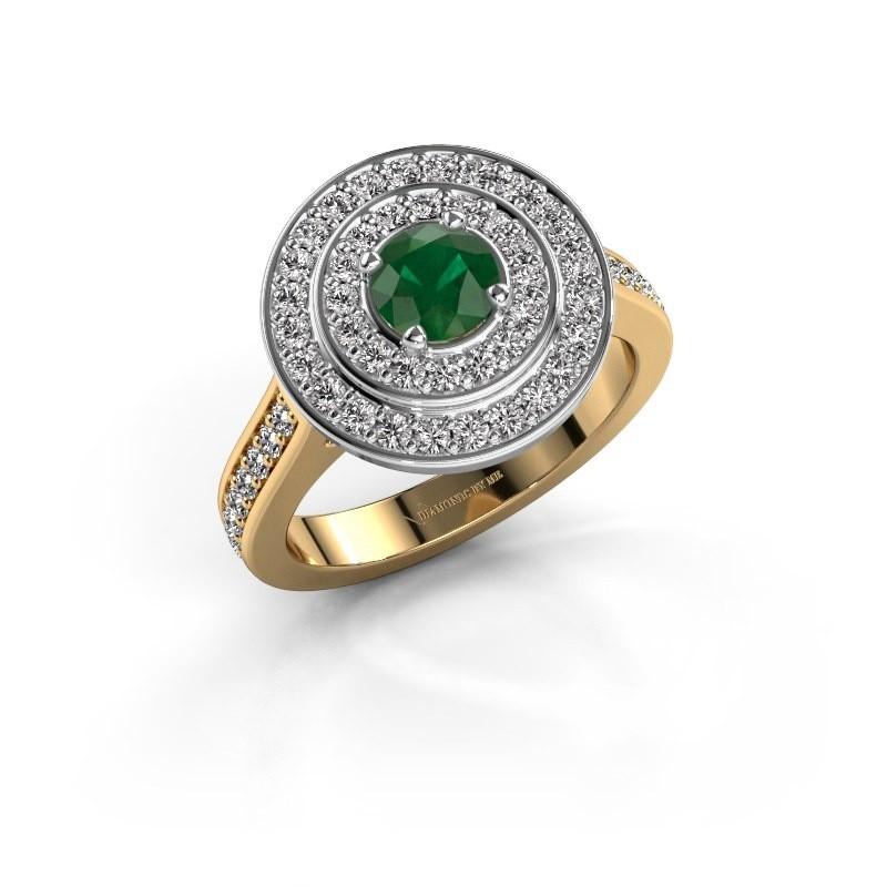 Ring Alecia 2 585 goud smaragd 5 mm