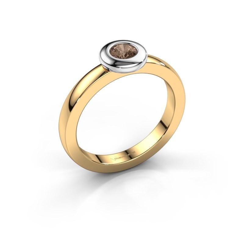 Ring Iris 585 goud bruine diamant 0.25 crt