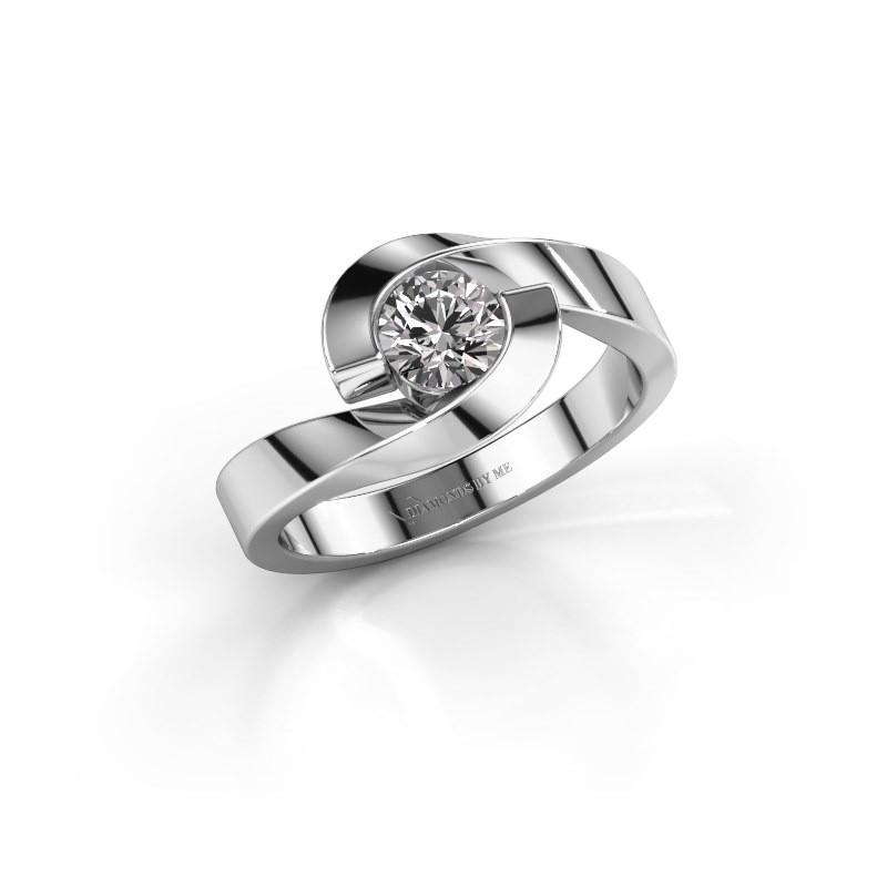 Verlovingsring Sheryl 950 platina diamant 0.40 crt