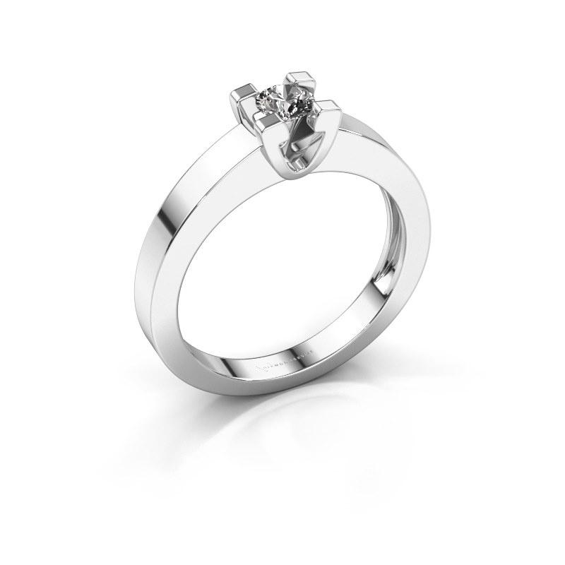 Promise ring Anne 1 585 witgoud diamant 0.15 crt