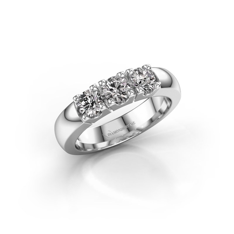 Engagement ring Rianne 3 925 silver diamond 0.900 crt