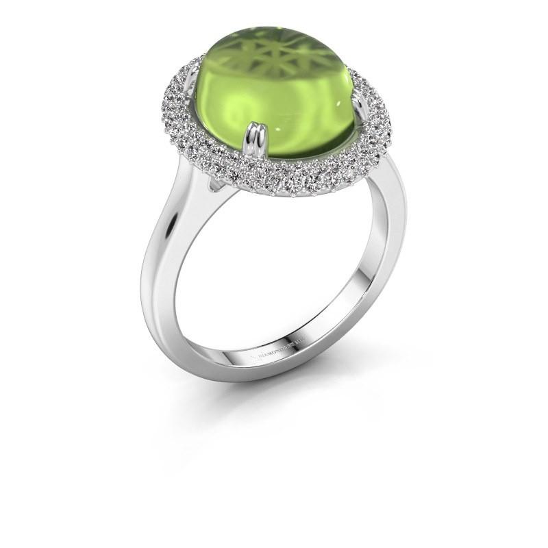 Ring Jayna 950 platinum peridot 12x10 mm